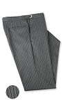 IKE BEHAR 120'S WOOL TRADITIONAL STRIPE ADJUSTABLE TROUSERS