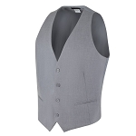 "CAREER ""ESSENTIALS"" MEN'S SILVER SUIT VEST"