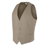 "CAREER ""ESSENTIALS"" MEN'S TAN SUIT VEST"