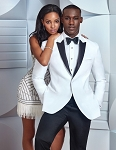 "SLIM FIT ""FRANKLIN"" MEN'S WHITE TUXEDO JACKET"