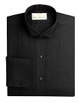 NEIL ALLYN BLACK WINGTIP MEN'S TUXEDO SHIRT