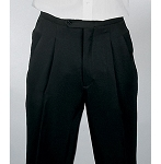 """DURAWEAR"" PLEATED WOMEN'S BLACK TUXEDO PANTS"