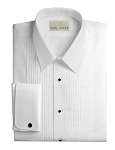 NEIL ALLYN COTTON FITTED WHITE LAYDOWN MEN'S TUXEDO SHIRT