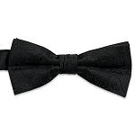 Black Jazz Paisley Bow Tie #BT130T-01
