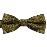 Gold Jazz Paisley Bow Tie #BT130T-14