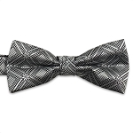 Silver Marquis Bow Tie #BT150T-02