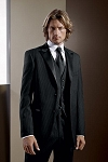 """INFINITY"" PEAK MEN'S BLACK TUXEDO JACKET"