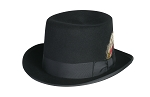 DELUXE MORFELT TOP HAT IN BLACK