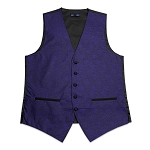 MEN'S PURPLE JAZZ PAISLEY VEST
