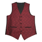 Men's Raspberry Jazz Paisley Vest #VT130V-65