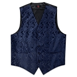 Men's Navy Perfect Paisley Vest #VT20E-37