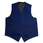 Royal Blue Glitter Vest Set #VT30I-38