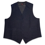 Navy Blue Glitter Vest Set #VT30L-37