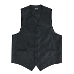 """AMANTI PAISLEY"" SLIM FIT MEN'S BLACK TUXEDO VEST SET"