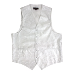 """AMANTI PAISLEY"" SLIM FIT MEN'S WHITE TUXEDO VEST SET"