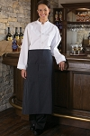 1 POCKET FULL BISTRO APRON - ASSORTED COLORS