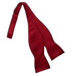 APPLE RED LUXURY SATIN TIE TO TIE SELF BOW TIE