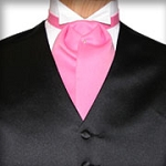 TRADITIONAL HOT PINK ASCOT TIE - PRE TIED