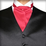RED ASCOT TIE