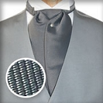 TRADITIONAL REGIMENTAL NARROW STRIPE ASCOT TIE - PRE-TIED