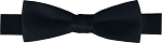 "PREMIER SATINS 1.5"" BOW TIE - BLACK"
