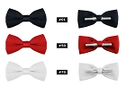 "CLASSIC POLY SATIN 2"" CLIP-ON BOW TIE - ASSORTED COLORS CLOSEOUT"