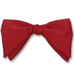 """CLASSIC SATIN"" TEARDROP CLIP-ON RED BOW TIE"