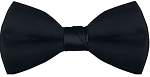 "SEGAL ""POLY-SATIN"" 2"" CLIP-ON BLACK BOW TIE"