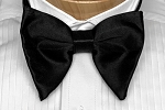 BLACK PREMIUM SATIN BUTTERFLY BOW TIE