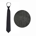 BLACK JAZZ PAISLEY WINDSOR TIE
