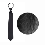 """WAVE"" BLACK WINDSOR TIE"