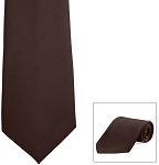 """SEGAL SATIN"" BROWN LONG TIE"