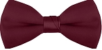 "SEGAL ""POLY-SATIN"" 2"" CLIP-ON BURGUNDY BOW TIE"