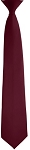 BURGUNDY POPLIN SECURITY CLIP-ON LONG TIE