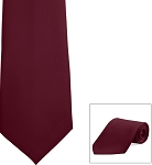 """SEGAL SATIN"" BURGUNDY LONG TIE"