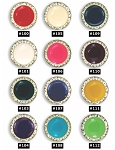 CRYSTAL BUTTON COVER W/ ENAMEL CENTER - ASSORTED COLORS