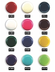 PLAIN BUTTON COVER W/ ENAMEL CENTER - ASSORTED COLORS