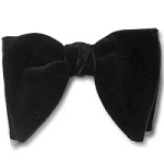 BLACK VELVET TEAR DROP BOW TIE - CLOSEOUT