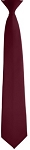 """SEGAL SATIN"" CLIP-ON BURGUNDY LONG TIE"