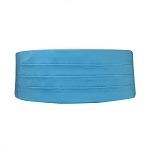 CARIBBEAN BLUE LUXURY SATIN CUMMERBUND