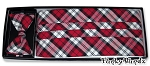 LUMBERJACK PLAID CUMMERBUND & BOW TIE SET