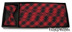 COUNTRY PLAID CUMMERBUND & BOW TIE SET