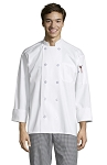 CLASSIC WHITE CHEF COAT W/ 10 PEARL BUTTONS