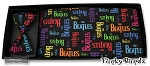 COLOR BEATLES LOGO CUMMERBUND & BOW TIE SET