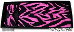 HOT PINK TIGER PLEATED CUMMERBUND & BOW TIE SET