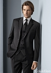 """CONCORD"" NOTCH MEN'S BLACK TUXEDO JACKET"