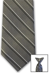GRAY/BLACK MULTI STRIPE CLIP ON NECKTIE
