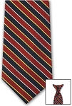 NAVY/RED BOLD STRIPE CLIP ON LONG TIE