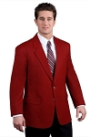 EXECUTIVE APPAREL RED EASYWEAR BLEND BLAZER JACKET