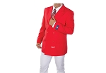 VSA RED 6 BUTTON DOUBLE BREASTED BLAZER JACKET - CLOSEOUT